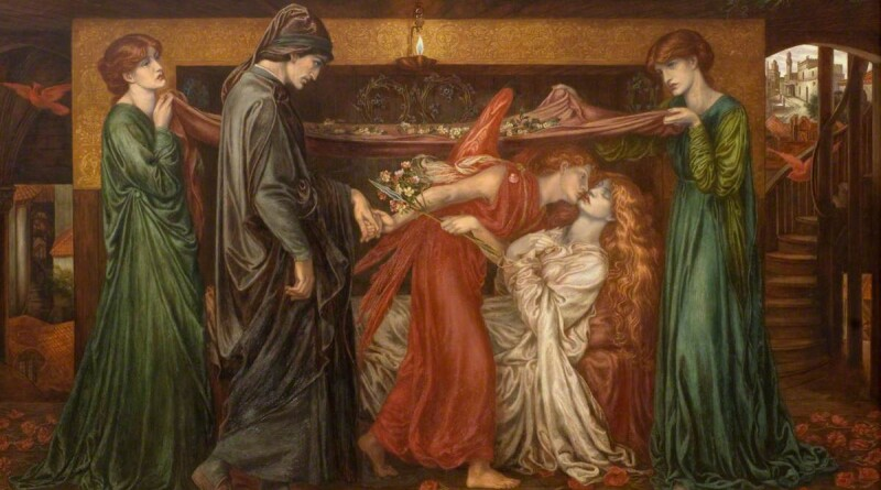 Rossetti, Dante Gabriel; Dante's Dream on the Day of the Death of Beatrice; Dundee Art Galleries and Museums Collection (Dundee City Council); http://www.artuk.org/artworks/dantes-dream-on-the-day-of-the-death-of-beatrice-92864