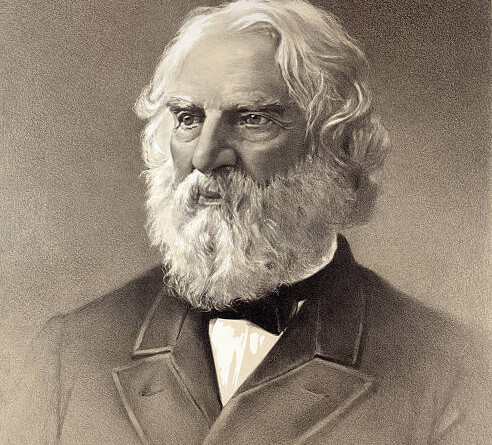 This vintage image by Houghton & Mifflin features the portrait of Henry Wadsworth Longfellow. Published in 1888 it is now part of the public domain.